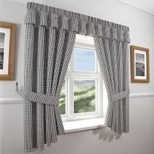 gingham check kitchen curtains black white 46