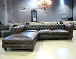 Chesterfield Sectional Sofa Sectional Grey Leather Chesterfield Sectional Chesterfield