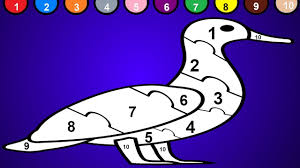 duck coloring page and numbers 1 to 10 duck puzzle youtube