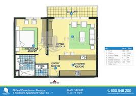 1 bedroom apartment floor plans floor plan of al reef downtown al reef village