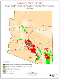 Map Of Arizona State by American Farmland Trust Resources Farming On The Edge Report