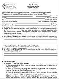 5 real estate bill of sale forms free sample example format