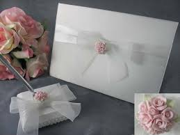 guest book and pen set pink roses wedding guest book and pen set