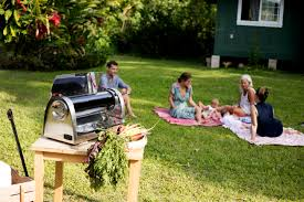gosun go solar powered grill can cook up a meal even on a cloudy day