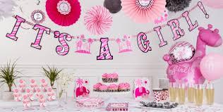 pink safari baby shower ideas girrafe ball and flower paper