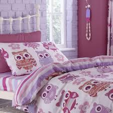 catherine lansfield owl reverse kids pink duvet cover u2013 slumber suite