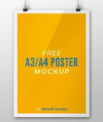 32 free photoshop psd flyer poster mockups