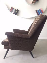 Chair Armchair Retro Vintage Old Design Brown Chair Armchair Vinterior