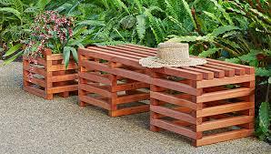 Garden Bench Ideas Box Crib Style Outdoor Bench And Planter