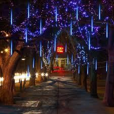 ebay outdoor xmas lights xmas outdoor solar meteor shower icicle 8 tube led lights snow fall