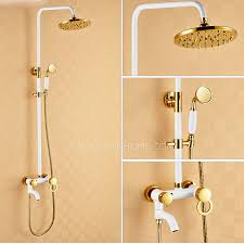Brass Shower Faucets Chic White Painting Brass Shower Faucets System