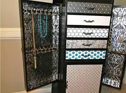 White Jewelry Armoire Mirror Wall Mount Jewelry Armoire Mirror White Wall Mounted Locking In