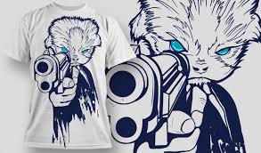 t shirt designs for sale a t shirt with a creature with blue holding a gun pointing