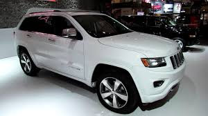 jeep 2014 white 2014 jeep grand overland exterior and interior