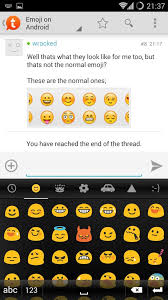 android smileys emoji on android android apps android forums