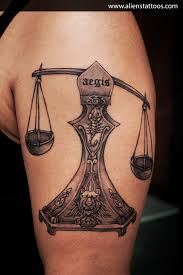 100 libra scale tattoo half sleeve taurus and libra scales