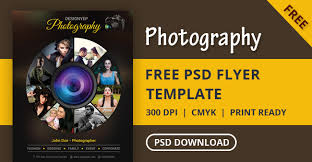 free photography flyer psd template designyep