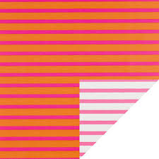 pink orange stripe reversible wrapping paper the container store