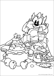 baby looney tunes color coloring pages kids cartoon