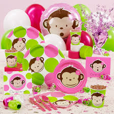 mod baby shower monkey baby shower decorations party favors ideas