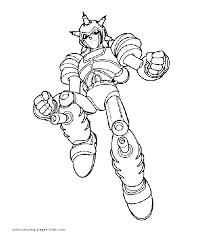 astro boy color coloring pages kids cartoon