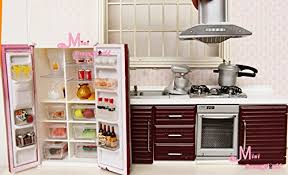 Dollhouse Kitchen Furniture by 1 12 Dollhouse Miniature Toy Kitchen Furniture Red Stove Oven