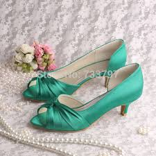 wedding shoes low heel pumps wedopus mw632 hot sale charming wedding bridal shoes low heel
