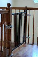 Best Stair Gate For Banisters 12 Best Baby Gate Images On Pinterest Baby Gates Stairs And Home