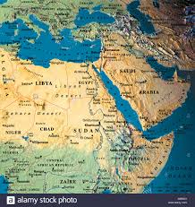 Middle East And Africa Map by Globe Map Maps Africa Middle East Saudi Arabia Stock Photo