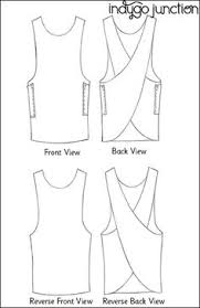 sewing pattern this is a pattern for a cross back apron but