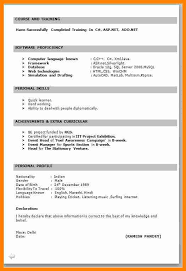 Job Resume For Freshers by 10 Resume Template For Freshers Free Download Forklift Resume