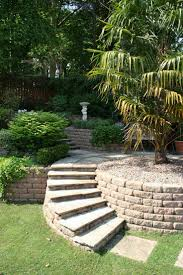 sloping garden design ideas solution to create small best pictures