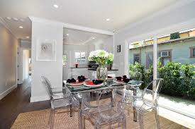 Lucite Dining Room Chairs Lucite Dining Chairs Room Contemporary With Chandelier Beach Style