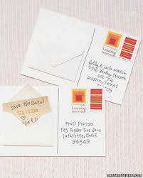 postcard save the dates diy save the dates martha stewart weddings