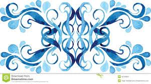 water drops ornament stock vector image 42189991