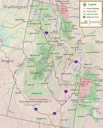 Mountains in idaho map map
