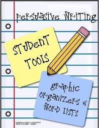 persuasive writing there are multiple worksheets to help develop