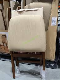 costco kitchen furniture stylish stakmore solid wood folding chair with padding seat