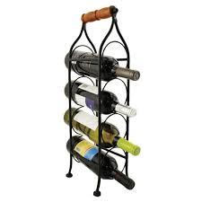 small capacity wine racks for countertops or to hang