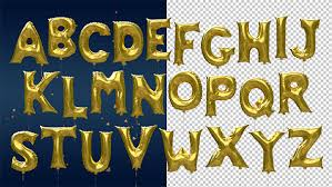 gold letter balloons 3d gold party foil letter balloons by chukhin videohive