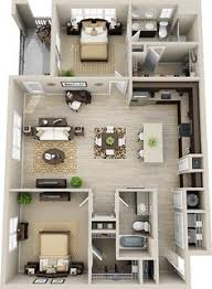 Floor Plan Apartment Design 2 Bedroom House Plans 3d Google Search House Plans Pinterest
