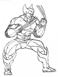 wolverine coloring sheet print free superheroes coloring