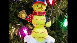 light up your tree with our softball ornaments