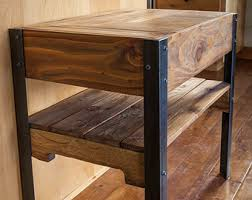 Building A Wooden Desktop by Pallet Wood Table Etsy