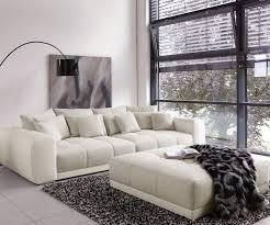 sofa grau weiãÿ big sofa valeska 310x135 mit hocker grau weiss möbel sofas big sofas