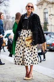 winter wedding dress guest inspiration skirt and fur jacket