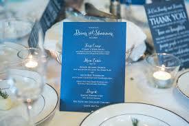 Blue Table Menu Navy Blue U0026 Aqua Wedding