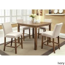 dining tables trestle table bases rustic counter height enjoy rustic appeal with a modern twist the compact seline 5 piece