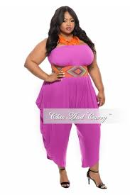 harem jumpsuit plus size strapless harem jumpsuit in magenta chic and curvy