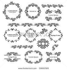 floral design elements set ornamental vintage stock vector